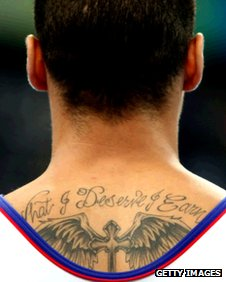 Louis Smith's neck showing tattoo