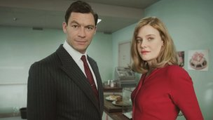 Dominic West and Romola Garai