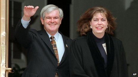 Newt and Marianne Gingrich in a 1997 file photo