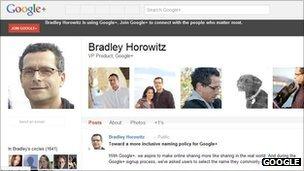 Bradley Horowitz's Google+ page