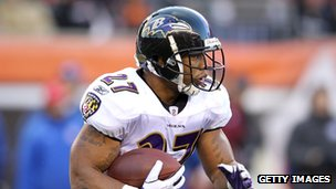 Ray Rice of the Baltimore Ravens