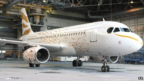 t took a 10-strong team 950 man hours to paint the A319 - which carries 132 passengers and is one of the smaller passenger planes in BA's fleet