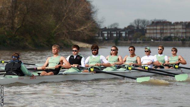 Cambridge boat crew