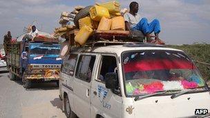 People fleeing Elasha Biyaha. January 2012