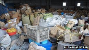 Warehouse of e-waste