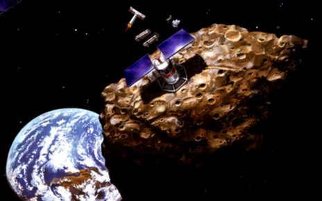Artist concept of asteroid mining