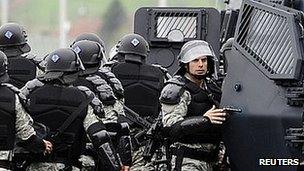 Macedonia riot police, 13 Apr 12