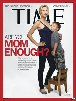 Time magazine cover of mother breastfeeding her three-year-old son