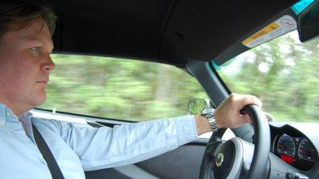 Jorn Madslien drives the Lotus Exige S