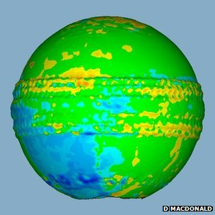 Laser scan of cricket ball