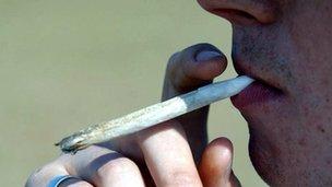 Man smoking a joint