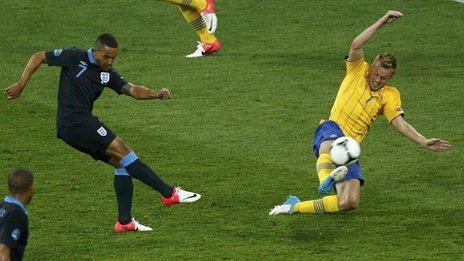 England Sweden Euro 2012 Theo Walcott