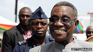 Ghanian President John Atta Mills