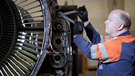 A worker at TES Photo: Martin Ellard/Welsh government