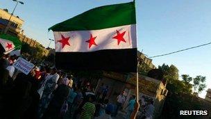 Anti-government protest in Jubar near Damascus