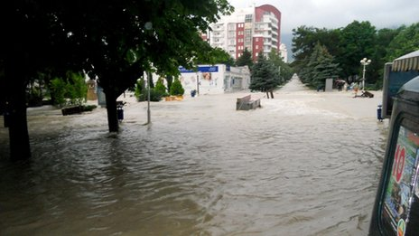 the flood in the city of Gelendzhik