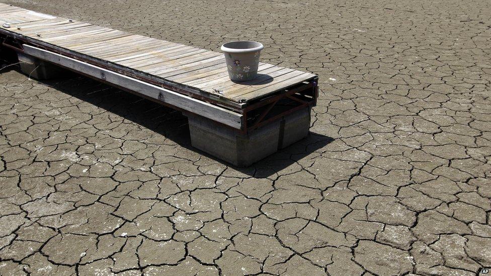 Dry part of Morse Reservoir, Noblesville, Indiana - 6 July