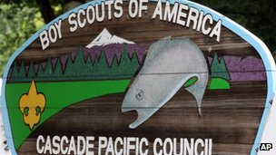 Boy Scouts of America Cascade Pacific Council sign