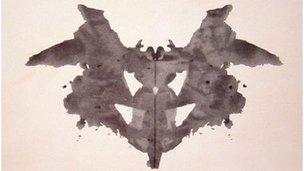 A Rorschach test inkblot
