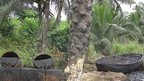 An illegal oil refinery in Nigeria ((July 2012)