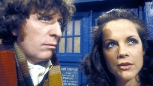 Tom Baker as Doctor Who and Mary Tamm as assistant Romana
