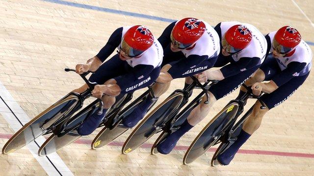 Team GB Olympic Track Cycling team