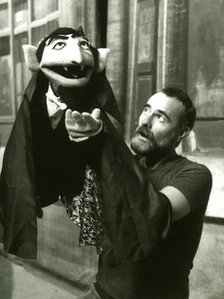 Jerry Nelson and Sesame Street character Count von Count