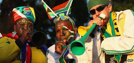 South African fans during the 2010 World Cup