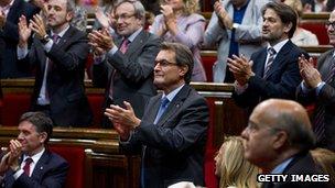 Artus Mas in Catalan parliament