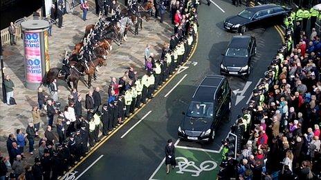 Funeral of PC Fiona Bone