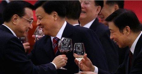 Li Keqiang, Liu Yunshan and Liu Yuanchao - Sep 2012