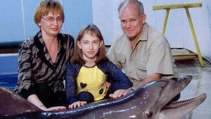 Svetlana, Sasha and Sandy before the siege