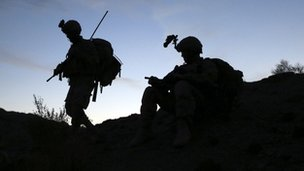 US troops in Afghanistan on 6 November, 2012