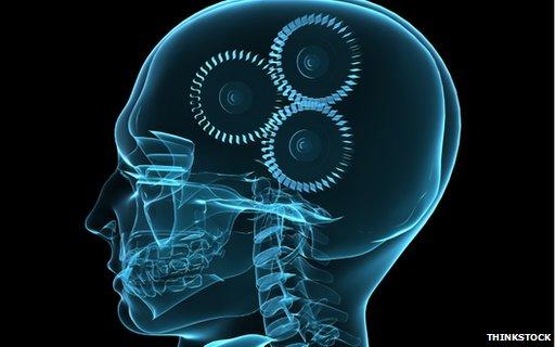 Human brain graphic