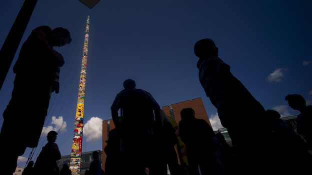 A 32.5m tall tower made of Lego in Prague