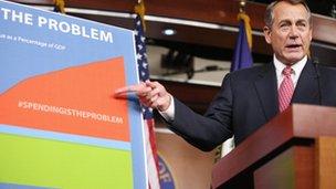 John Boehner briefs the press