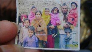 Sonam (in the orange shawl)