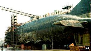Kursk wreck in dry dock