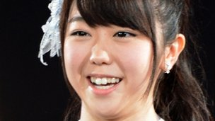 Minami Minegishi in file picture on June 2012