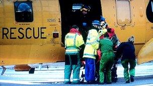 Casualty lands at ARI