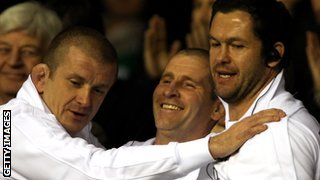 Graham Rowntree, Stuart Lancaster and Andy Farrell