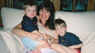 Michele-Marie Roberts and her sons Calum and Corey