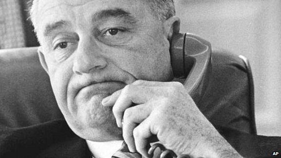 President Johnson on the phone in 1964