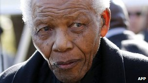 Nelson Mandela in June 2010