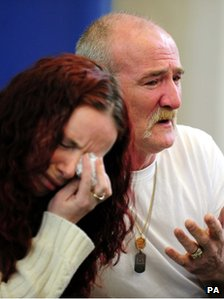 File photo dated 16/5/2012 of Mick Philpott and wife Mairead speak to the media at Derby Conference Centre, Derby