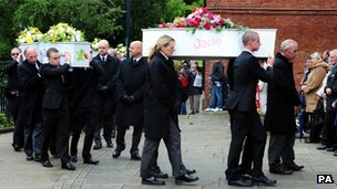 The funeral of the six children killed in the house fire in Derby
