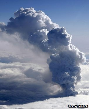 Ash plume from the Eyjafjallajokull volcano, Iceland (Getty Images)