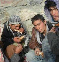 Heroin addicts in Kabul