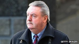 James McCormick arrives at the Old Bailey