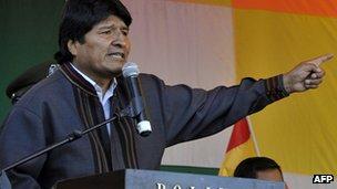 Evo Morales on 1 May 2013
